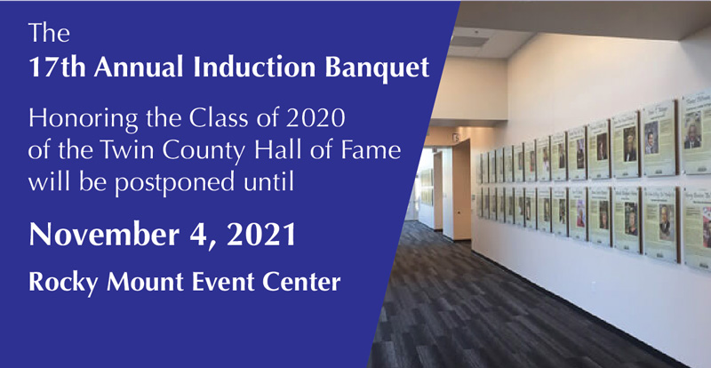 2020 Hall of Fame Banquet Ceremony re-scheduled to 2021